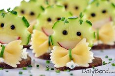 These cute cucumber bowtie appetizers are not only delicious but are a sure hit at your next dinner party. This is a great example of consumable food art.