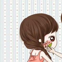Love Cartoon Couple, Cute Couple Art, Anime Love Couple, Cute Couples, Cute Couple Wallpaper, Matching Wallpaper, Anime Chibi, Kawaii Anime, Anime Art