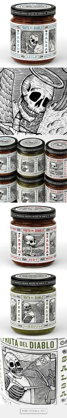 Fruta Del Diablo Salsa by Moxie Sozo Design + Advertising curated by Packaging Diva PD. Not new but I couldn't resist these awesome packaging illustrations.: