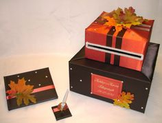 Fall Themed Wedding Card Box