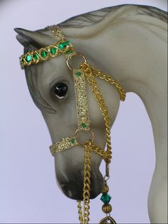"Breyer Model Arabian Show Halter ""St Patrick's Day Parade"". $20.00, via Etsy."