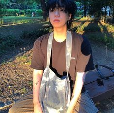 Jung Jin Woo, Mullet Hairstyle, Mullets, My Boys, Ulzzang, Drawstring Backpack, Kpop, Long Hair Styles, Cute