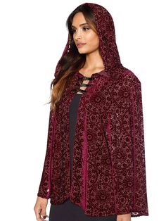 Burned Velvet Regal Red Cloak - LIMITED (WW ONLY $140AUD) by Black Milk Clothing