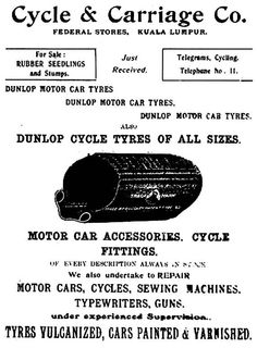 Dunlop Tyres advertisement by Cycle & Carriage
