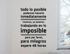 """#Vinilos #Textos #Adhesivos """"todo lo posible"""" 03432"""