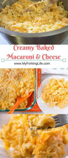 Creamy baked macaroni and cheese, Perfect side dish for Thanksgiving or any family dinner. This is the best baked macaroni recipe you will ever try.