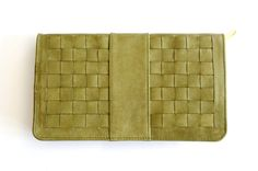 INDRANI. Leather clutch. Available in different leather colors.. $110.00, via Etsy.