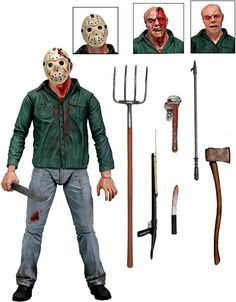 Friday the Pt III - Jason Voorhees Ultimate Scale Action Figure. This poseable action figure portrays Jason in his bloodstained. Jason Action Figure, Jason Voorhees Action Figure, Freddy Krueger, Action Toys, Action Figures, Neca Figures, Anime Figures, Film Friday The 13th, Jason Friday