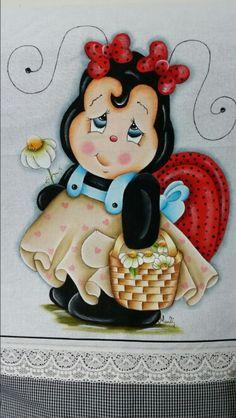 Pintura pano de prato by Marli Vieira