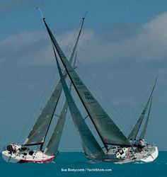 Key West international Yacht Race Week attracts the best and fastest sailing yachts in the world every January.