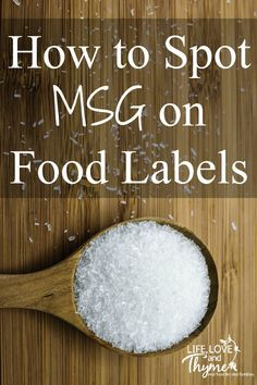 How to Spot MSG on Food Labels