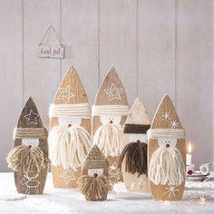 Resultado de imagen para wood figures for winter & christmas - DIY CHRİSTMAS Rustic Christmas, Christmas Projects, Winter Christmas, Kids Christmas, Handmade Christmas, Christmas Ornaments, Diy And Crafts, Crafts For Kids, Theme Noel