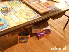 Requested by my Jim a coffee table that we can put classic game boards under the glass. So on the hunt for this simple table at a thrift store or garage sale.