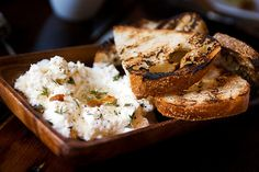 LV's sheep's milk ricotto with truffle honey and burnt orange toast...one of my favorite things ever