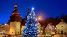 Christmas atmosphere of cities and towns in Czechia : Náchod Christmas Tree, Architecture, Holiday Decor, City, Travel, Voyage, Xmas Tree, Xmas Trees, Viajes