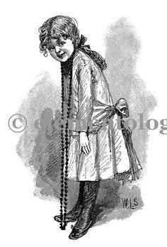 Victorian Image No. 1546 , Printable Digital Image File - elementologie, Vintage Market And Design