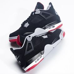 """Sneaker News on Instagram  """"Air Jordan 4 """"Bred"""" with Nike Air on the heel.  Coming May 2019. For a closer look 5a87d9fc0390"""