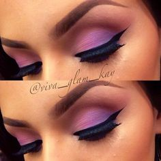beautiful two toned eye shadow blend with bold wing.