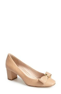 Free shipping and returns on Louise et Cie 'Lilla' Pump (Women) at Nordstrom.com. Twisted goldtone hardware provides a modern update on an elegant pump cast in snake-embossed leather.