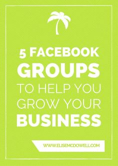Are you a little overwhelmed about which facebook groups to join for your biz? Here are 5 Facebook Groups To Help You Grow Your Blog + Business :D