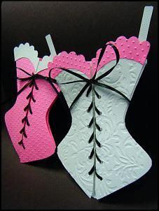 Paper bustier card! A friend is like a good bra: Close to your heart, Hard to find, and SUPPORTIVE!