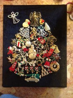 Made my own, totally Christmas, jewelry tree.