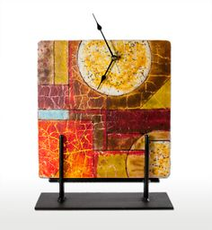 fused glass clock Google Search Glass Creations I Endeavor To