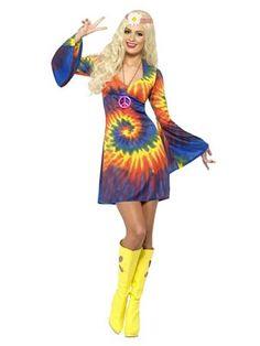 1960's Tie Dye Sexy Costume - Sexy 60's Halloween Costumes