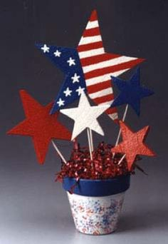 Patriotic Starburst Bouquet ~ How to