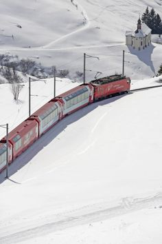 The Glacier Express is the most famous railway in the world.