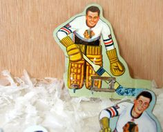 Vintage Metal Hockey Chicago Blackhawks Goalie Player by SouleArt