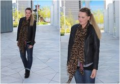 provider leather jacket, Black Swan Fashion jeans, Louis Vuitton leopard stole    Blogging at: www.malsen.dk