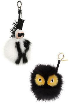 The certified street-style essentials.Fendi keychain, $1450, shopBAZAAR.com; Fendi keychain, $900, shopBAZAAR.com.