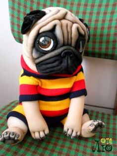 Caring for Your Senior Dog Pug Puppies, Cute Dogs And Puppies, Baby Dogs, Sock Animals, Clay Animals, Cute Baby Animals, Pug Art, Sock Dolls, Silly Dogs