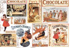 Decoupage Paper Chocolate cardboards