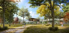 forest park design - Google Search Exterior Rendering, 3d Rendering, Architectural Animation, Photorealistic Rendering, Parking Design, Forest Park, 3d Visualization, How To Level Ground, Photomontage