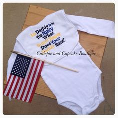 My Daddy is in the Navy what Super Power by CutiePieAndCupcake, $12.00