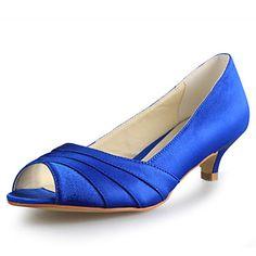 Women's+Wedding+Shoes+Peep+Toe+Heels+Wedding+Black/Blue/Pink/Purple/Red/White/Silver/Gold/Champagne/Beige+–+USD+$+39.99