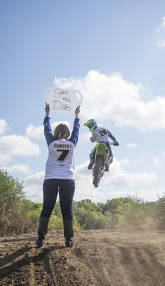Motocross save the date #motocross #wedding #savethedate #moto