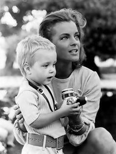 Romy Schneider und Sohn David