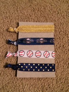 Milwaukee Brewers Elastic Hair Ties by millergoodsshop on Etsy https://www.etsy.com/listing/232047123/milwaukee-brewers-elastic-hair-ties