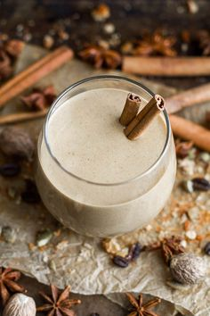 This healthy Pumpkin Spice Latte Breakfast Smoothie can be enjoyed hot or cold…