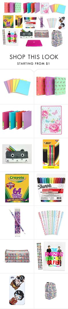 """Back To School Supplies #2"" by jasmine-the-basic-penguin ❤ liked on Polyvore featuring interior, interiors, interior design, home, home decor, interior decorating, GreenGate, BIC, Sharpie and Vera Bradley"