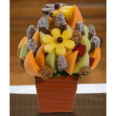 Celebration Blossom scent free fruit bouquet are great for all occasions and make great gifts ideas or decorations from a proud Canadian Company. Great alternative to traditional flowers or fruit baskets