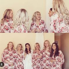 Beautiful personalised pink dressing gowns in rose cotton design from The  Little Lovebird  ivory  . Bridesmaid ... eeb65849d