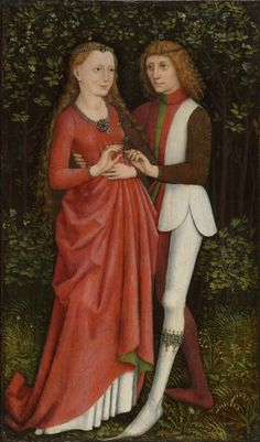 A Bridal Couple, painted in Southern Germany, c.1470