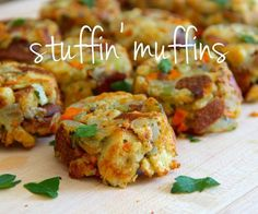 Stuffin' Muffins - Just used Stove Top. Cute presentation but they fell apart a little.