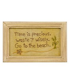 Look what I found on #zulily! 'To the Beach' Stitchery-Look Wall Sign #zulilyfinds
