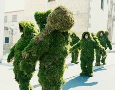 Incredible giant moss costumes walk the Spanish streets for traditional festival | Creative Boom