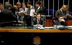 O presidente da Câmara, Rodrigo Maia, durante a votação sobre o pacote que reúne um conjunto de medidas de combate à corrupção (DF)